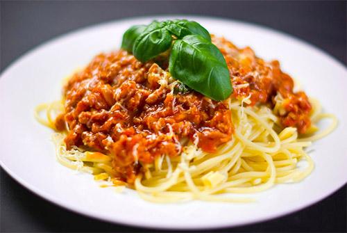 Koolhydraten spaghetti