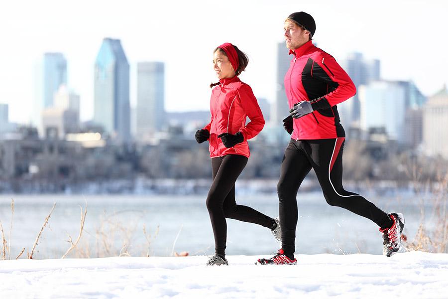 Samen hardlopen winter