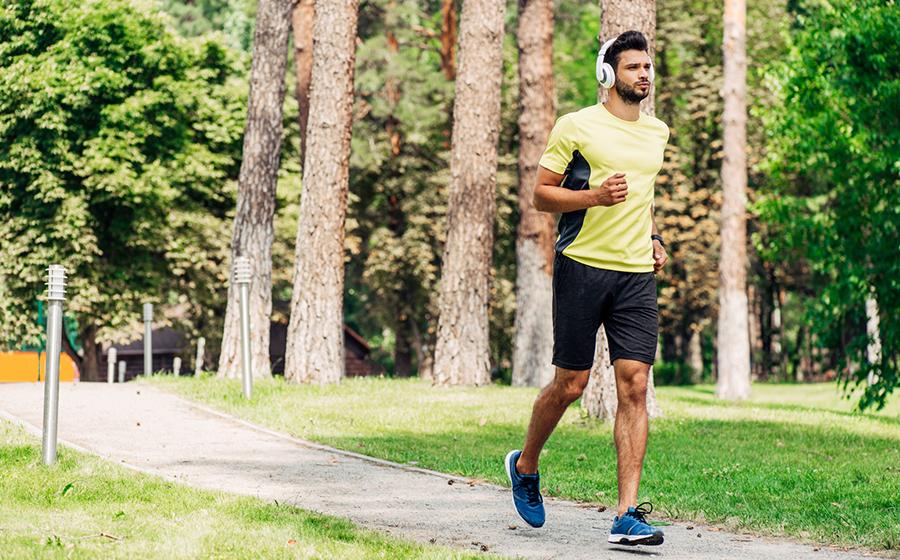 hardlopen in het park