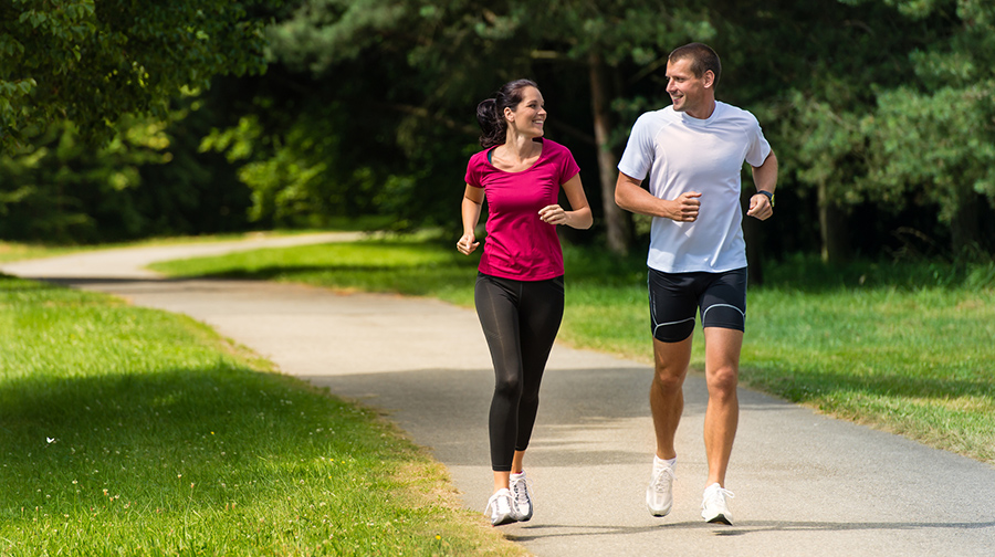 Praten tijdens hardlopen