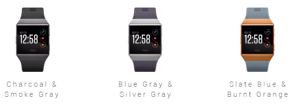 Fitbit Ionic verschillende kleuren