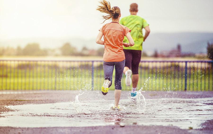 Regen: waar ga ik het beste hardlopen?