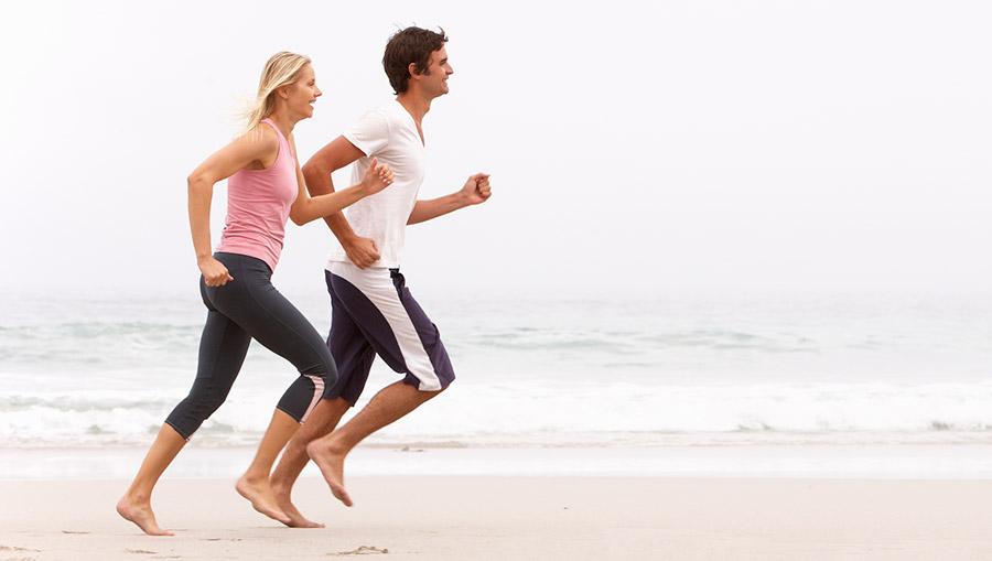 Barefoot running strand