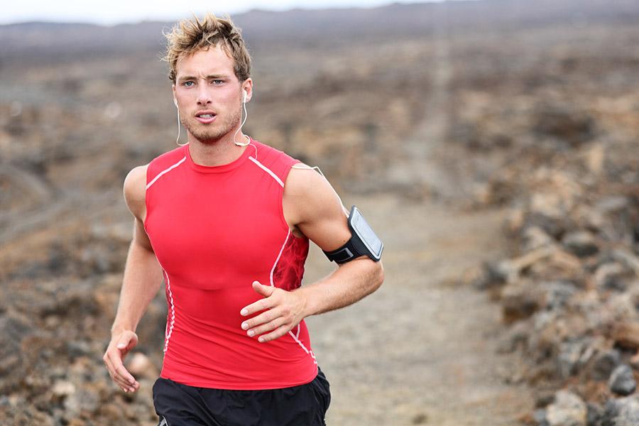 Hardloper sportarmband trailrunning
